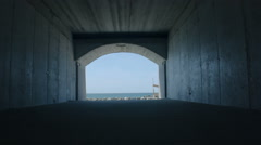 Tunnel to the Beach - 25FPS PAL Stock Footage