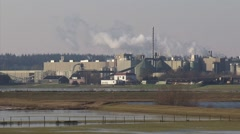 Paper mill Parenco paper makers along the River Rhine (Lower Rhine) at Renkum Stock Footage