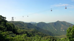 4K Time Lapse of Cable Car on Island Stock Footage