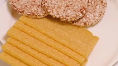 Group of different types of bread Stock Footage