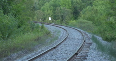 View of a railway near the forest at Caledon, Canada Stock Footage