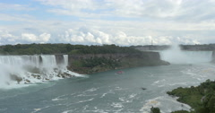 Beautiful view of the American Falls and Horsehoe falls at Niagara Falls, Canada Stock Footage