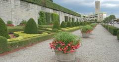 Ornamental plants in Oaks garden Theatre at Niagara Falls, Canada Stock Footage