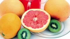 Fresh fruits Stock Footage