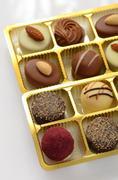 Chocolate bon bons - stock photo