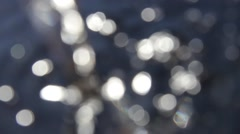 Blinking lights. The effect of sunlight on flowing water 2 Stock Footage