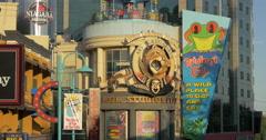 View of the entrance of  MGM Studios at Niagara Falls, Canada Stock Footage