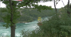 Soar the Great Gorge crossing the river at Niagara Falls, Canada Stock Footage