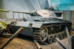 Panzer III tank used by Germany in World War II in Belarusian Mu - stock photo