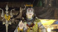 Close up of Shiva statue Stock Footage