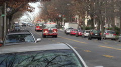 2 Fire engines arrive, DC Stock Footage