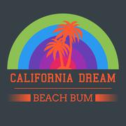 california dream typography - stock illustration