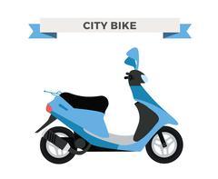 Vector motorcycle illustration. Moto bike isolated on white background - stock illustration