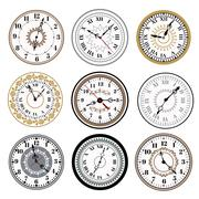 Clock watch alarms vector icons illustration - stock illustration