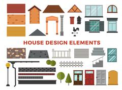 Family house vector design elemets Stock Illustration