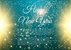Happy New Year celebration background - stock illustration