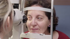 Eye inspection procedure Stock Footage