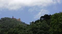 Palacio Nacional da Pena Stock Footage