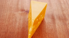 Bit of aged french gold emmental Stock Footage