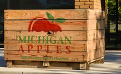 Apple Orchard Crate Stock Photos