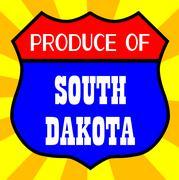Produce Of South Dakota Stock Illustration