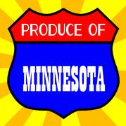 Produce Of Minnesota - stock illustration