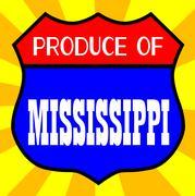 Produce Of Mississippi Stock Illustration