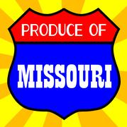 Produce Of Missouri - stock illustration