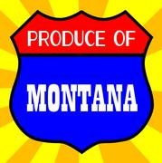 Produce Of Montana - stock illustration