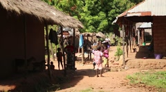Africa people native village Stock Footage