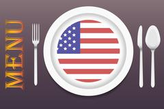 Ready for serving American cuisine vector Stock Illustration