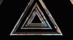 Tunnel of triangles abstract background Stock Footage