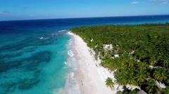 Saona Island beach Stock Footage