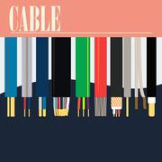 Electric Cable Wire - stock illustration