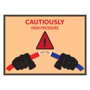 Stock Illustration of Warning Poster Electricity