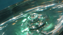 In a mixer with stirring the liquid formed a whirlpool - stock footage