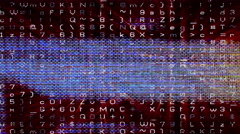 Streaming data forms flickering - Abstract 0301 HD, 4K Stock Footage
