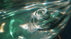 In a mixer with stirring the liquid formed a water swirl Stock Footage