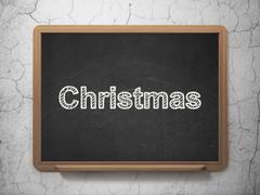 Holiday concept: Christmas on chalkboard background Piirros