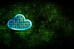 Stock Illustration of Cloud computing concept: Cloud With Code on digital background