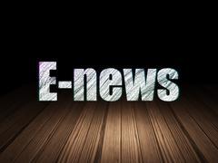 News concept: E-news in grunge dark room - stock illustration