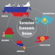 Eurasian Economic Union,countries, infographics, - stock illustration