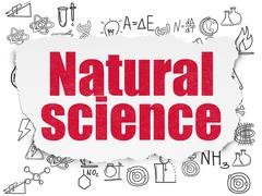 Stock Illustration of Science concept: Natural Science on Torn Paper background