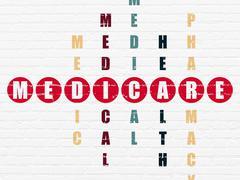 Health concept: Medicare in Crossword Puzzle - stock illustration