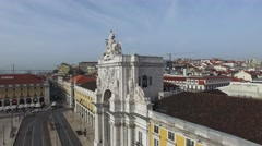 Augusta Arch in Lisbon, Portugal - stock footage
