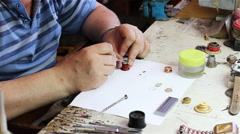 The Watchmaker At Work Stock Footage