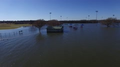 Lake Grapevine Flooded Play ground Stock Footage