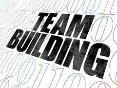 Finance concept: Team Building on Digital background - stock illustration