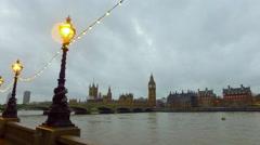 Long shot for Big Ben, London - stock footage