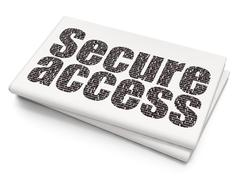 Safety concept: Secure Access on Blank Newspaper background - stock illustration